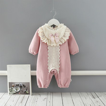 Baby girl outfit Winter Infant Thick Warm Christmas Baby Rompers For Baby Girls Jumpsuit Newborn Baby Clothes pink 0-2Y
