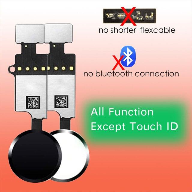 10pcs/lot Universal Home Button Flex Cable For iPhone 7 8 Plus Menu Key Repair Parts With Return Function