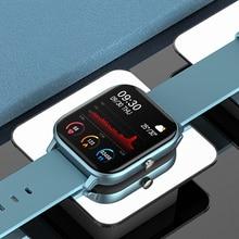 IP67 P8 reloj pulsera inteligente de las mujeres de los hombres deporte reloj Monitor de ritmo cardíaco dormir Monitor localizador Smartwatch para teléfono pantalla a Color