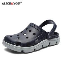 Летние повседневные сандалии для Для мужчин Для мужчин пляжные шлепанцы с воздухопроницаемым отверстием; Туфли без каблуков светильник мужской Массажная обувь Для мужчин Босоножки, шлепанцы