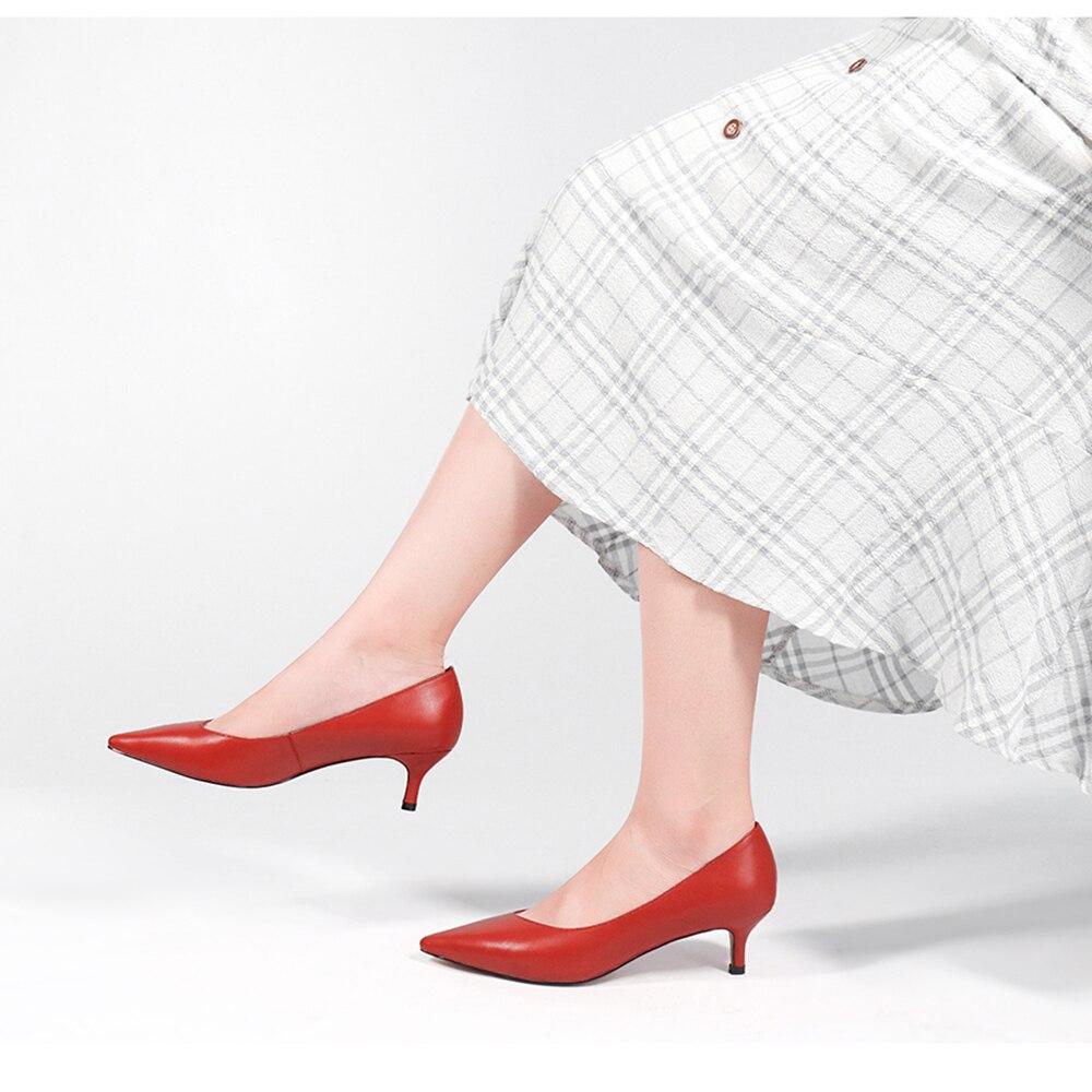 SOPHITINA/Лидер продаж; Пикантные туфли лодочки на стильном низком каблуке как ; Удобная обувь из высококачественной натуральной кожи с заостре