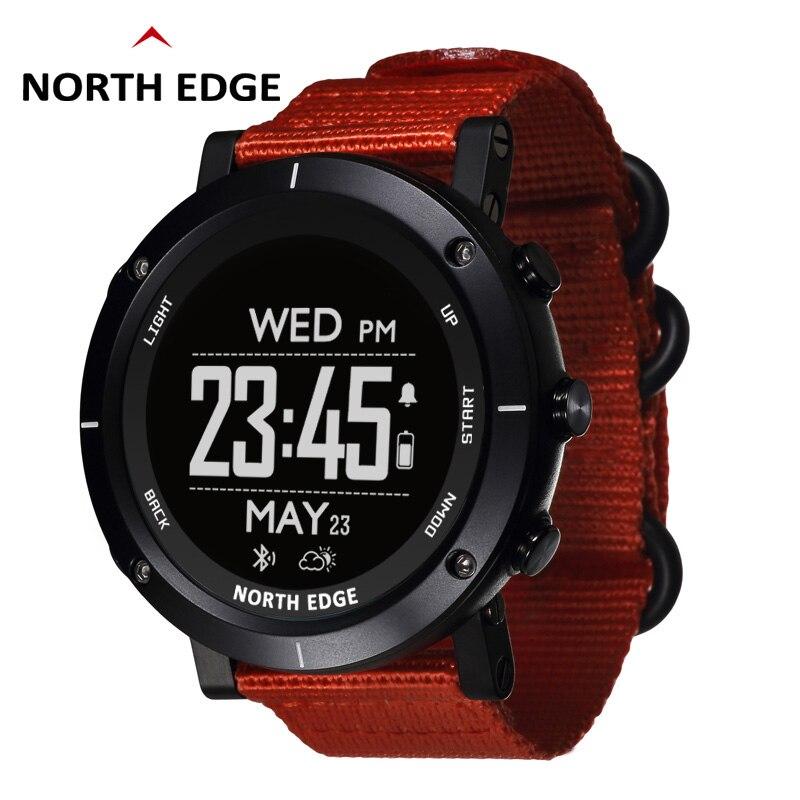 Relógios inteligentes homens esportes ao ar livre relógio à prova d50 água 50m gps altímetro barômetro termômetro bússola altitude mergulho borda norte