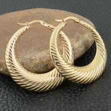 EGKZAAAJ – boucles d'oreilles En Acier Inoxydable pour Femme, Bijoux de couleur or, Simple, à la mode