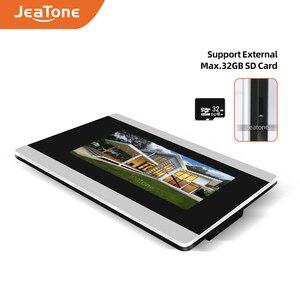 Image 2 - Jeatone visiophone avec écran tactile de 7 pouces, wi fi IP, interphone vidéo pour 4 appartements séparés, compatible télécommande par téléphone