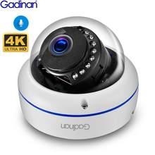 Gadinan 4K 8MP Dome POE IP kamera dahili mikrofon ses CCTV 5MP 3MP ev güvenlik kamerası gece görüş IP66 H.265AI ONVIF