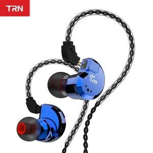 Image 2 - TRN V80 2BA + 2DD الهجين المعادن في الأذن سماعة HIFI DJ Monito تشغيل سماعة أذن تستخدم عند ممارسة الرياضة سدادة الأذن سماعة ل MT1 BA15 TA1 V90 KZ edx