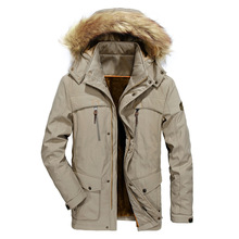 Mens New Fashion Winter Jacket Men Thick Casual Outwear Jackets Men's Fur Collar Windproof Parkas Plus Size 6XL Velvet Warm Coat цена