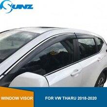 Defletores janela lateral fumaça para vw tharu 2018 2019 2020 janela viseira ventilação shades sol chuva guarda defletor sunz