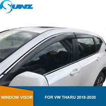 Smoke Side Window Deflectors For VW Tharu 2018 2019 2020 Window Visor Vent Shades Sun Rain Deflector Guard SUNZ