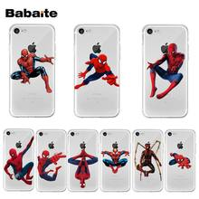 Yinuoda Marvel Spider Man Weiche TPU silikon Bunte Telefon fall für iPhone 8 7 6 6S Plus X XS max 10 5 5S SE XR Coque Shell(China)