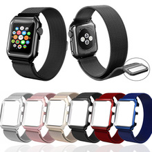 цена на Milanese loop strap For apple watch band Series 5 4 3 2 1 magnetic buckle Bracelet Wristband for iwatch sport band 44/40/42/38mm