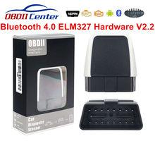 Mais recente v2.2 elm 327 bluetooth 4.0 adaptador elm327 firmware 2.2 obd2 scanner de código ios andorid pc v08 bluetooth 4 obdii interface