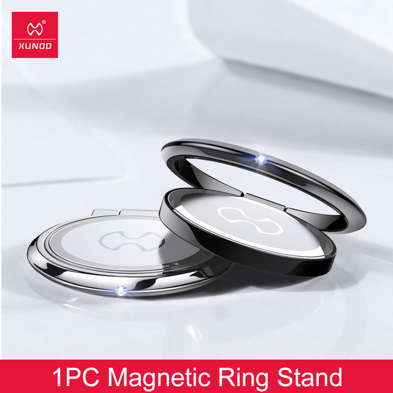 For Iphone 7 Xiaomi Note 7 Mi 9 Samsung XUNDD Magnetic Ring Holder Universal Stand For Andorid And IOS Metal Phone Ring 360