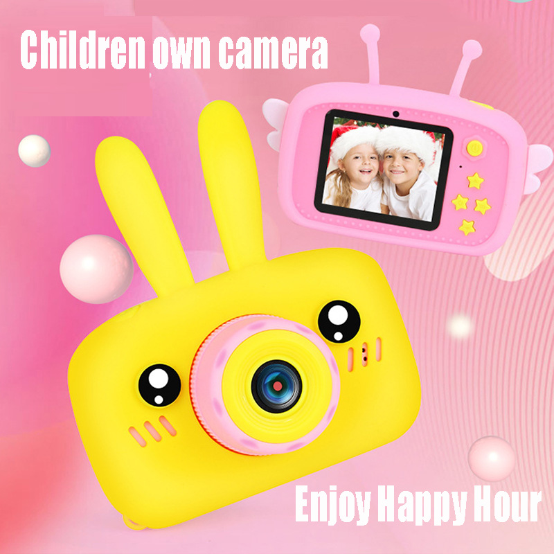 Children Mini Camera Full HD 1080P Portable Digital Video Photo Camera 2 Inch Eye-protection Screen Display Game Study Camera