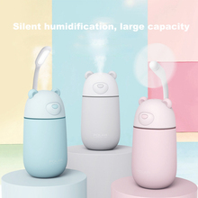Mini Cute Polar Bear USB Humidifier Air Purifier Portable Ultrasonic With LED Light Fan for Home Office Car