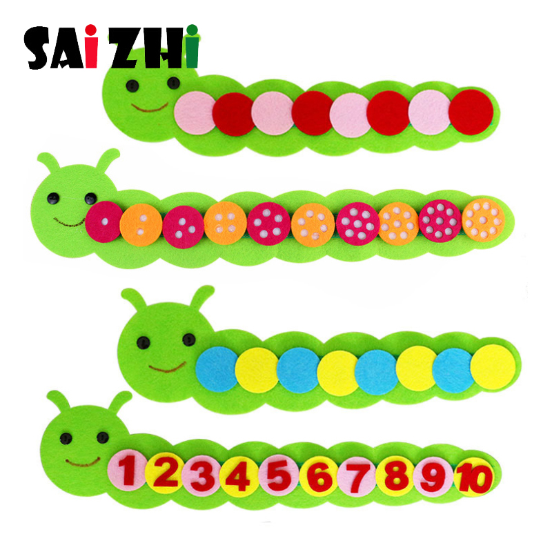 Saizhi Number Caterpillar Kids Arts And Crafts Toy For Children Kindergarten Teaching Aid Manual Diy Weave Cloth Educational Toy