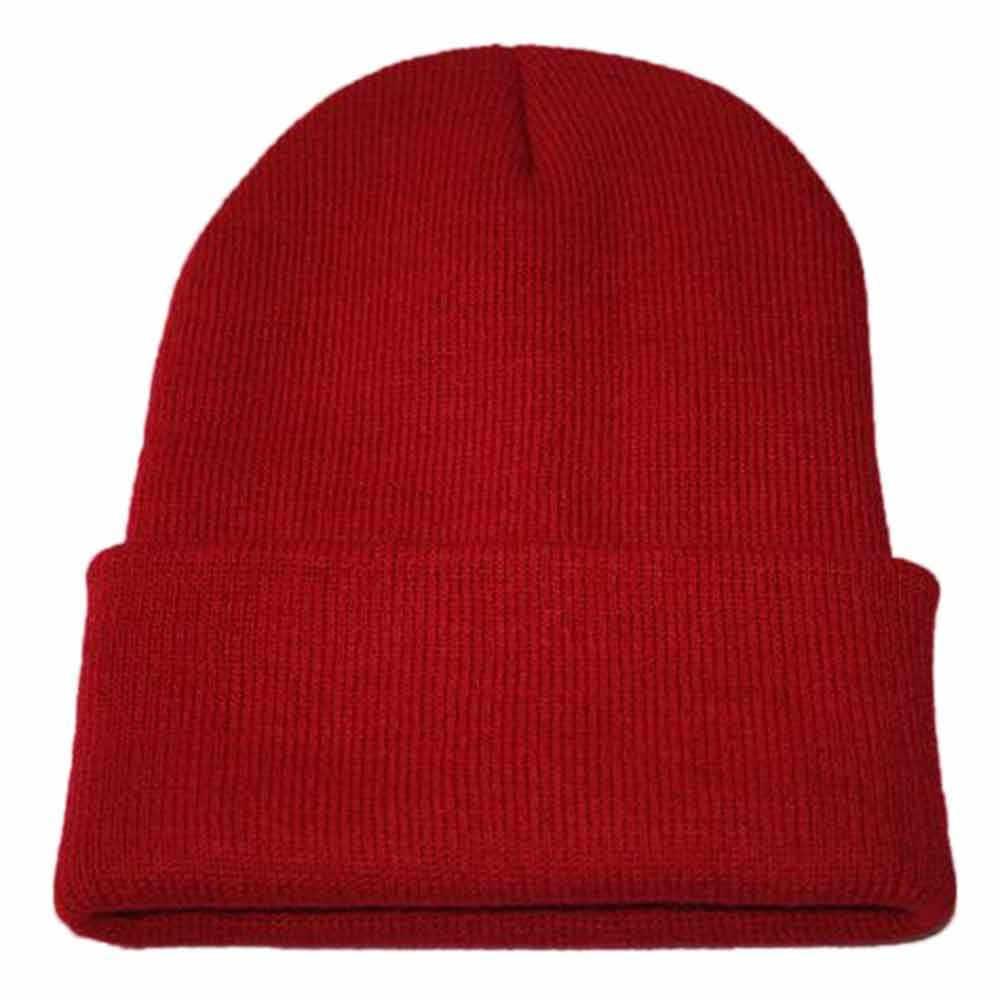 Unisex หมวกสกีฤดูหนาวสีทึบ Ribbed ถัก Skullcap Baggy VINTAGE Ski หมวกชาวประมงหมวก Slouchy ลำลองหญิงชาย # nu