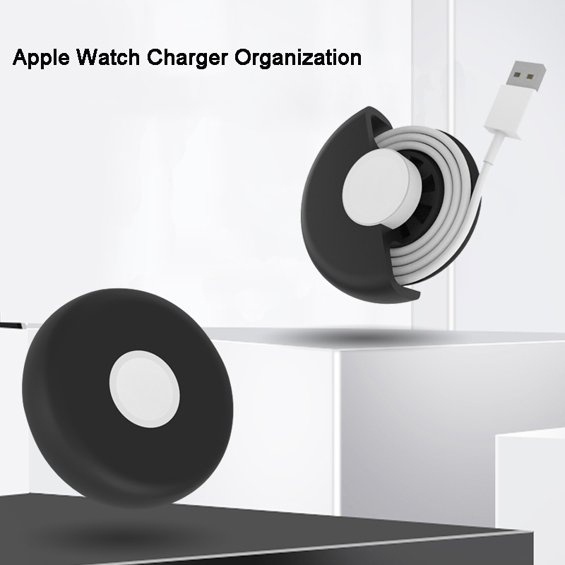 Portable Charging Dock Station For Apple Watch Series 4 3 2 1 Desktop Cable Organization Soft Silicone Bracket Nightstand