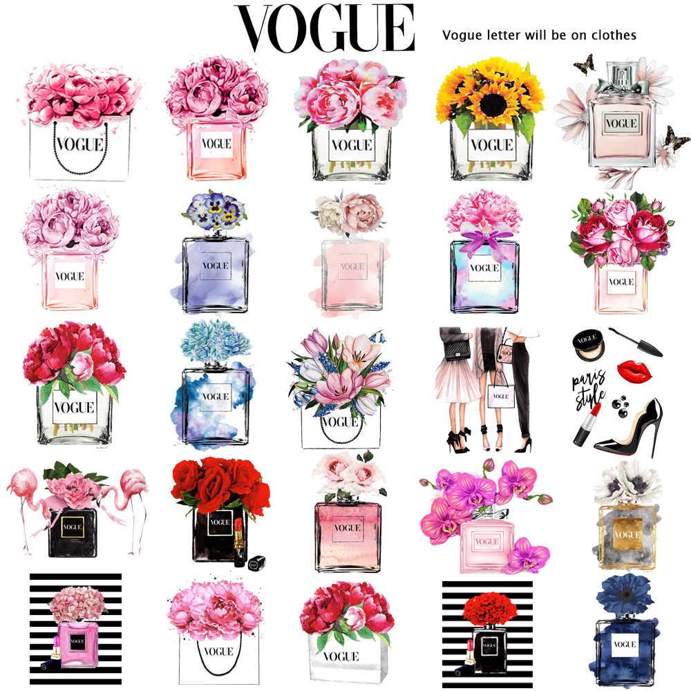 Abbigliamento donna stampa bottiglia di profumo di fiori dolce maglietta a maniche corte maglietta da donna stampata maglietta da donna maglietta casual da donna