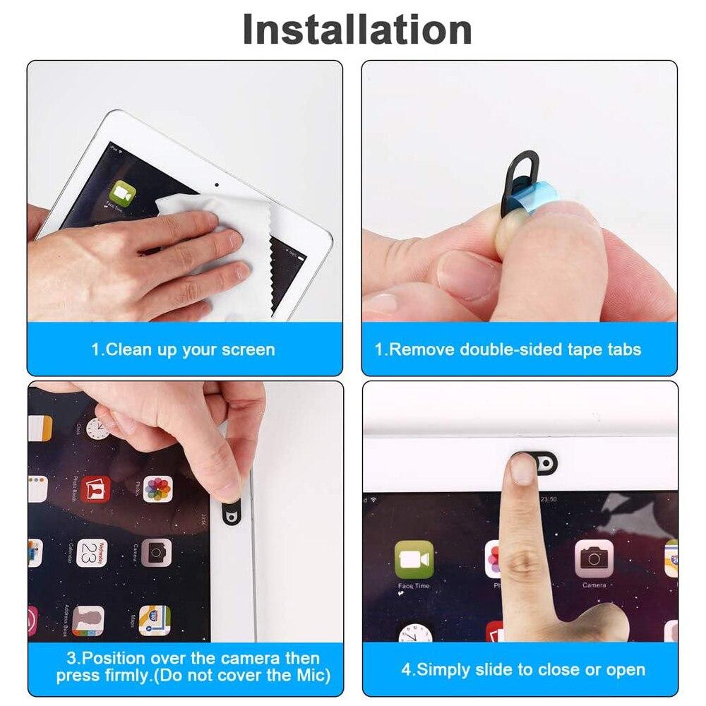 Крышка для веб-камеры защитный чехол для конфиденциальности для iPad iPhone Samsung Универсальная крышка для веб-камеры затвор магнит для ноутбука планшета ПК камеры