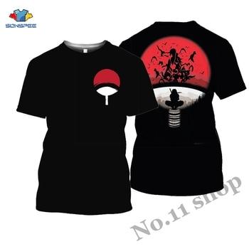 Summer 3D Adventure Uchiha Madara Anime NARUTO T-Shirt Cartoon Harajuku Akatsuki Shirt Mens T-shirt Comic Samurai Top Tee