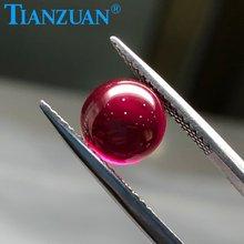 Шарики красного цвета в форме сферы кабошон бусины из Рубинового