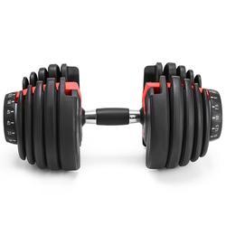 Novo peso dumbbell ajustável 5-52.5lbs exercícios de fitness halteres tonificar sua força e construir seus músculos