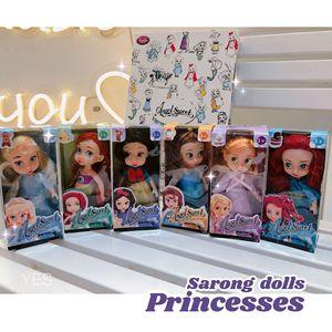 Image 2 - 6 teile/satz Prinzessin Puppe Schnee Weiß Meerjungfrau Lange Haar Prinzessin Glocke Spielzeug Puppen für kinder Geburtstag Geschenke Auf Lager