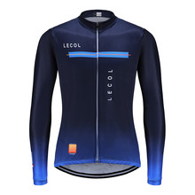 LECOL 2021 Pro Team Autumn Men Cycling Jersey Clothing Bicycle Mtb Bike Downhill Shirt Wear Long Sleeve Uniform