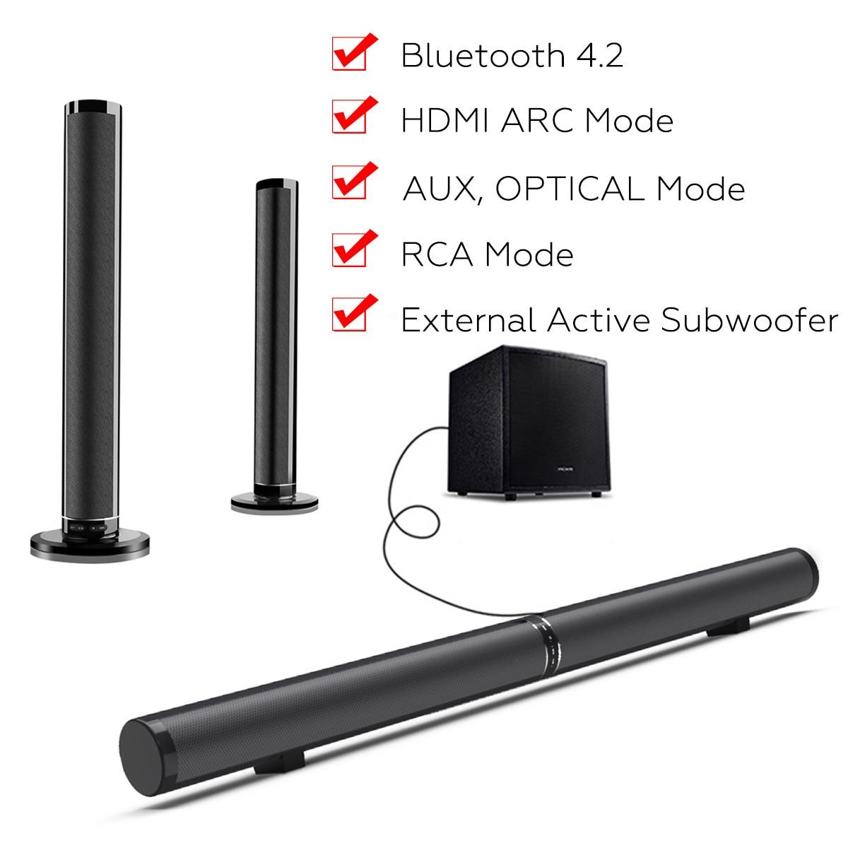 50W Drahtlose bluetooth TV Sound Bar Lautsprecher Sub Woofer Surround Stereo Home Theatre System Computer Wand Soundbar