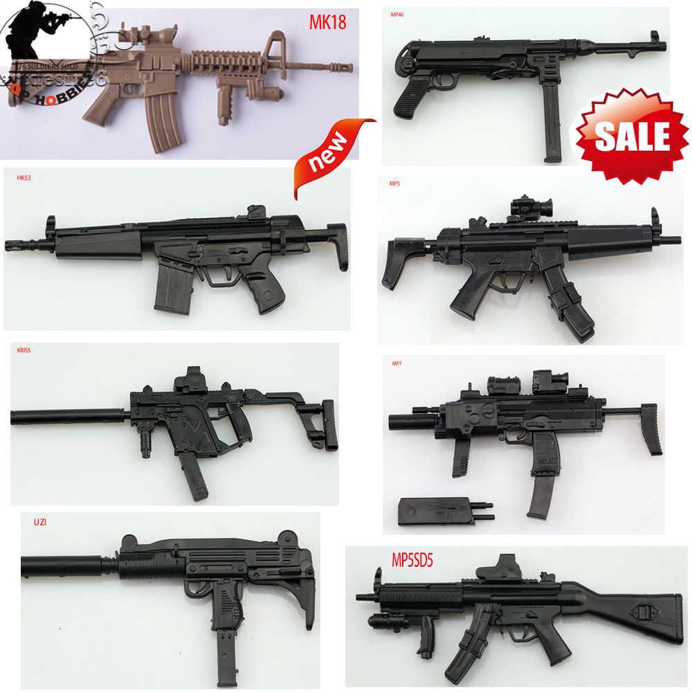1/6 Sca 1:6 модель ружья Mp40/MP5/MP5SD5/HK53/MK18/KRISS/MP7/UZI ружье бумага для сборки подходит 12 дюймов солдат фигурка