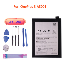 Original Replacement Battery 3000mAh For Oneplus 3 A3001 BLP613 Retail Package Cell Phone Battery witblue new inner exchange 3000mah 3 7v battery pack for 7 wexler tab a742 a740 a744 dexp ursus a370i tablet replacement