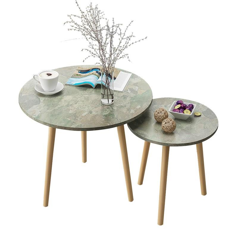 Nordic Living Room Coffee Table Modern Minimalist Tea  Solid Wood Leg   Multifunctional Eating