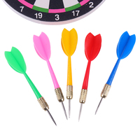 Dardos bonitos de plástico multicolor, punta de afilar, barril de aguja de ala, punta de hierro y cobre, juguete para lanzar dardos de 11cm, 10 Uds.