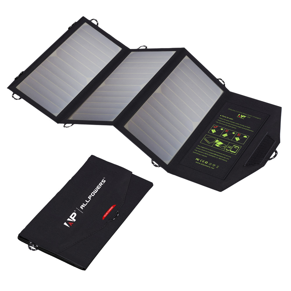 Solar Chargers Dual USB 5V 21W Solar Battery Charg