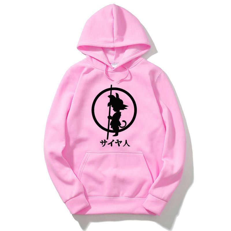 Dragon Ball Anime Fashion Print 2018 Herfst Winter Fleece Sweatshirts Voor Mannen Tops Merk Trainingspak heren Sportkleding Hot