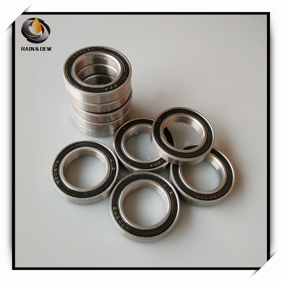 10Pcs 6802 2RS <font><b>Bearing</b></font> 15*24*5 mm ABEC-7 Metric Thin Section 61802RS 6802 RS Ball <font><b>Bearings</b></font> <font><b>6802RS</b></font> image