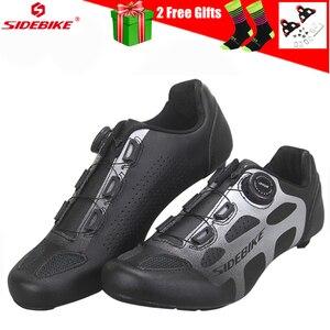 Sidebike/Новинка; Обувь для езды на велосипеде из углеродного волокна; Мужская обувь для езды на велосипеде; Спортивная обувь с самоблокирующим...
