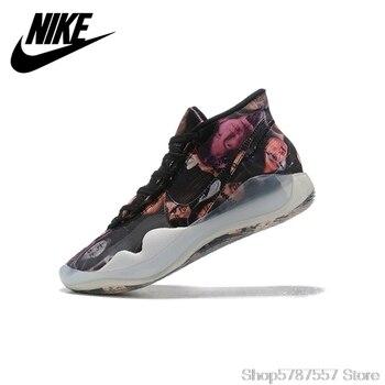 цена на Original Nike ZOOM KD12 Men Basketball Shoes  Breathable Outdoor Sports Sneakers