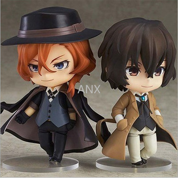 10CM Bungo Stray Dogs Nakahara Chuuya PVC Figure Anime Collectible Model  Toy Doll Gift Dazai Osamu anime bungo stray dogs chuya nakahara chuuya orange wig cosplay costume heat resistant synthetic hair men women party wigs