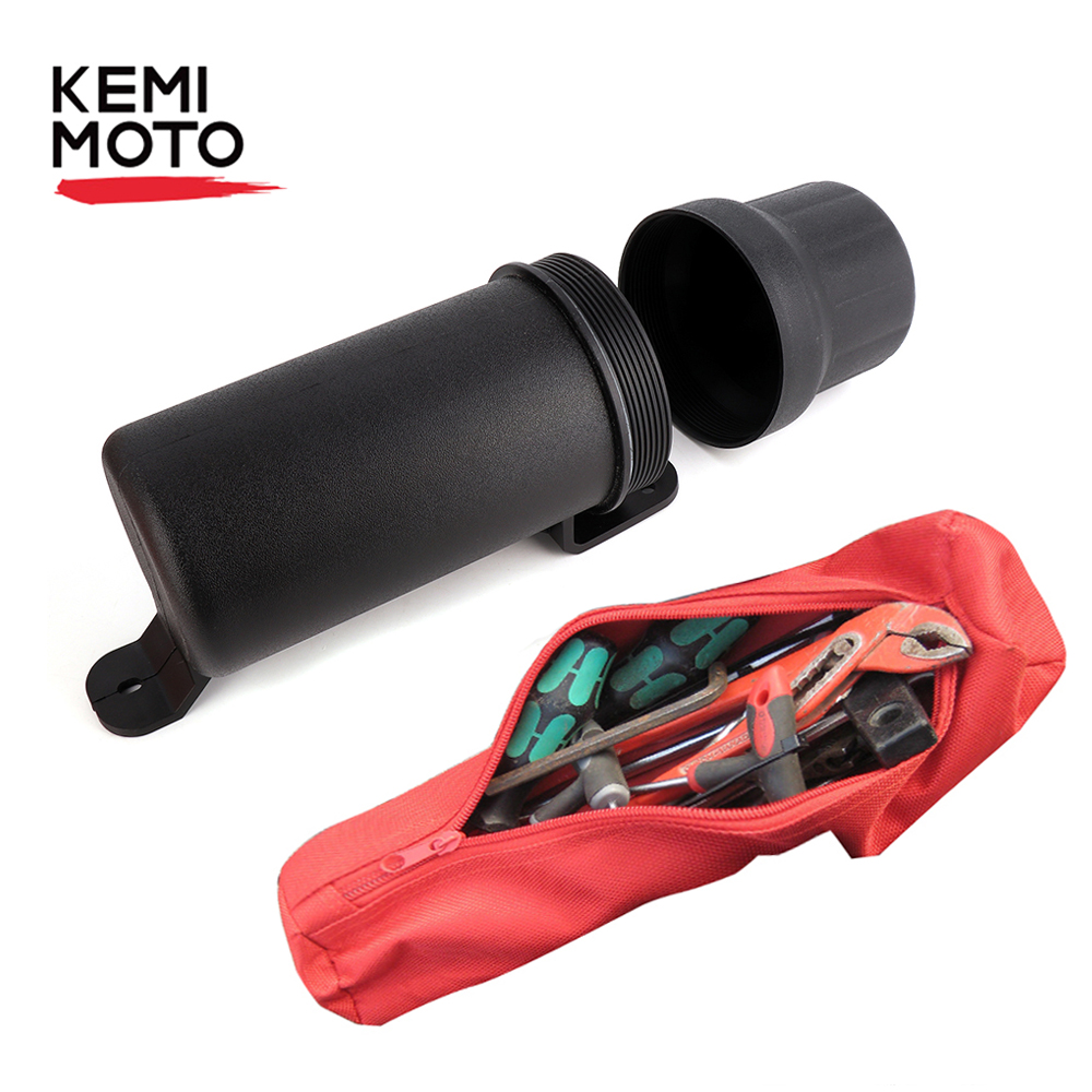 KEMiMOTO Universal Moto Motocicleta Acessórios Ferramenta Luvas Tubo Caixa De Armazenamento Capa De Chuva À Prova D' Água para BMW para Honda para a Yamaha