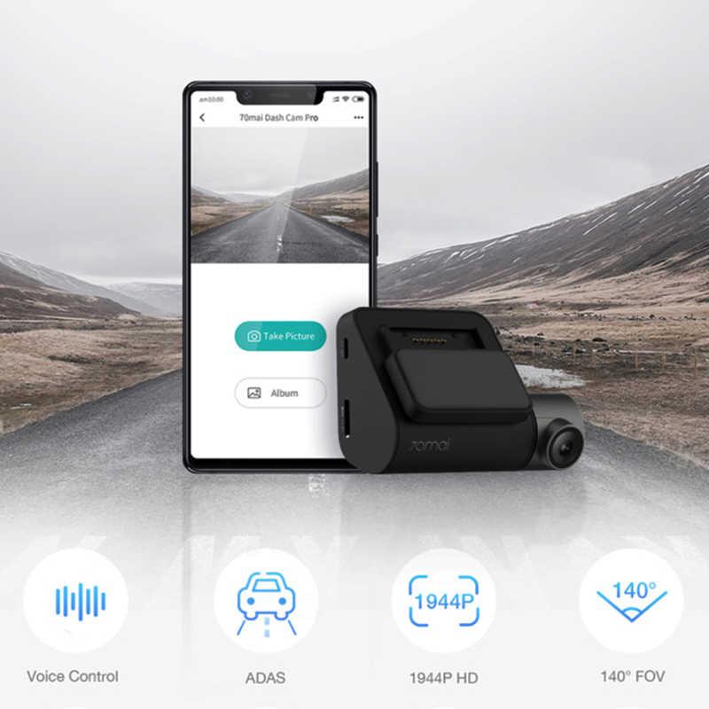 70mai Dash Cam Pro умный Автомобильный видеорегистратор камера Wifi 1944P gps ADAS Голосовое управление монитор парковки 140FOV камера ночного видения