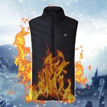Chaleco eléctrico calentador para hombre, mujer, chaleco térmico, ropa de abrigo, chaleco exterior con calefacción Usb, chaqueta de invierno 9