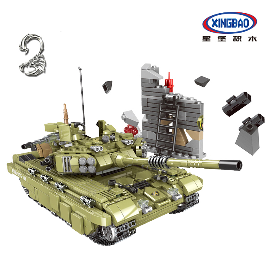 Xingbao 06015 ทหาร Battle WW2 Series 1386Pcs Scopio Tiger Tank ชุด Building Blocks อิฐของเล่นเพื่อการศึกษา boy-ใน บล็อก จาก ของเล่นและงานอดิเรก บน   1