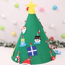 DIY нетканый материал для создания прочного настенного крепления DIY рождественская елка изысканный фетр Детские Вечерние развлечения самоклеющиеся