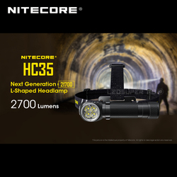 Następna generacja Nitecore HC35 4 x CREE XP G3 S3 LEDs 21700 w kształcie litery L 2700 lumenów reflektor z akumulatorem 4000mAh w Latarki czołówki od Lampy i oświetlenie na