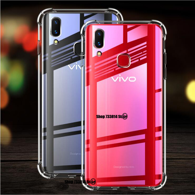Silicone <font><b>Case</b></font> For Y17 Y3 Y15 Y12 U3X U10 Transparent Anti-fall Cover For <font><b>Vivo</b></font> Y81 Y81S Y81i Y67 Y69 V5S Y66 Y65 <font><b>Y53</b></font> V5 Lite <font><b>case</b></font> image
