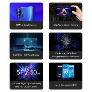 "Image 2 - UMIDIGI F2 Phone Android 10 Global Version 6.53"" FHD+ 6GB 128GB 48MP AI Quad Camera 32MP Selfie Helio P70 Cellphone 5150mAh NFC"