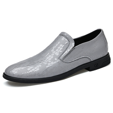 2021 New Arrivals Fashion Bling Men Leather Shoes Casual Business Loafers Slip-on Driving Footwear Big Size Comfort Men's Shoes