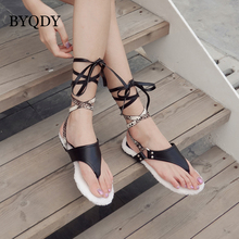 BYQDY Ankle Strap Summer Sandals Women Leopard Print Ladies Shoes Weaving Casual Beach Flat With Shoes Rome Ladies Sandals women sandals flat beach sandals ankle strap cross strap peep toe summer slipper casual shoes breathable fisherman shoes